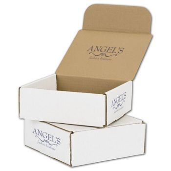 White Mailers, 1 Color/Top Interior/2 Side Exterior, 8x8x3