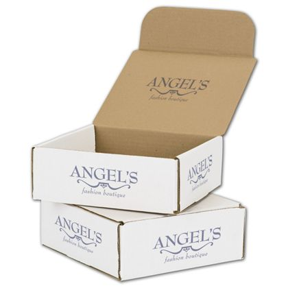 White Mailers, 1 Color/Top Interior/5 Side Exterior, 8x8x3