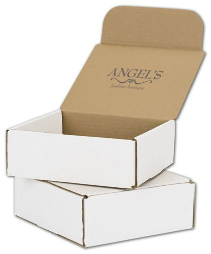 White Mailers, 1 Color/Top Interior Side, 8 x 8 x 3""
