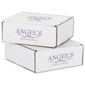 White Mailers, 1 Color/2 Sides Exterior, 8 x 8 x 3