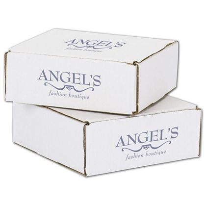 """White Mailers, 1 Color/2 Sides Exterior, 8 x 8 x 3"""""""