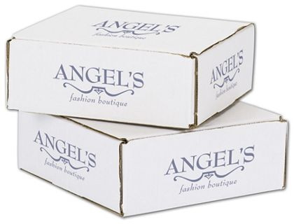 """White Mailers, 1 Color/5 Sides Exterior, 8 x 8 x 3"""""""