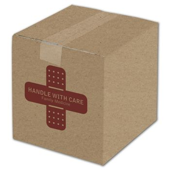 """Kraft Printed Corrugated Boxes, 1 Color/1 Side, 8 x 8 x 8"""""""