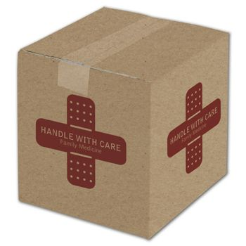 """Kraft Printed Corrugated Boxes, 1 Color/4 Sides, 8x8x8"""""""