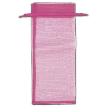 Hot Pink Organza Bags, 6 1/2 x 15
