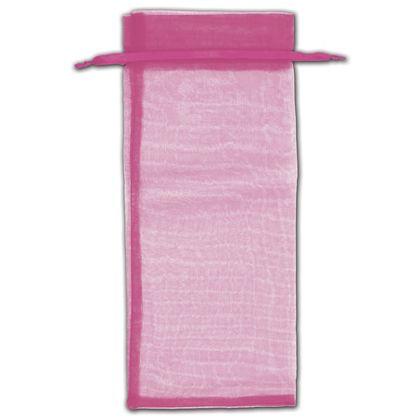 "Hot Pink Organza Bags, 6 1/2 x 15"""
