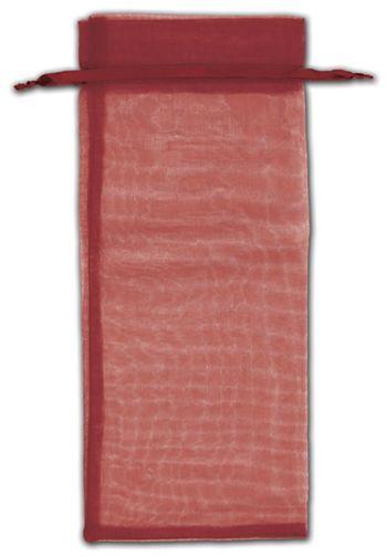 Burgundy Organza Bags, 6 1/2 x 15