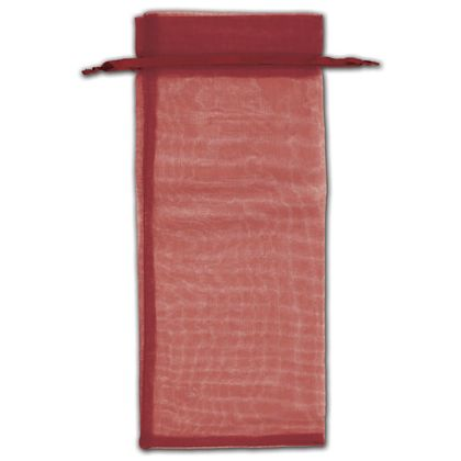 "Burgundy Organza Bags, 6 1/2 x 15"""