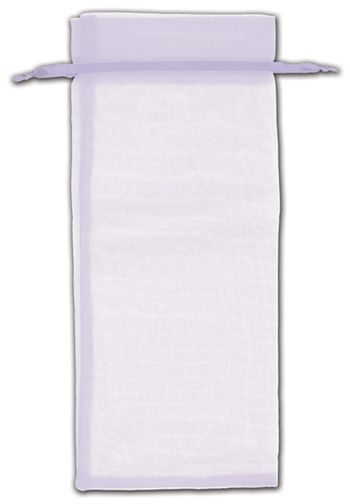 Lavender Organza Bags, 6 1/2 x 15