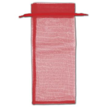 Red Organza Bags, 6 1/2 x 15