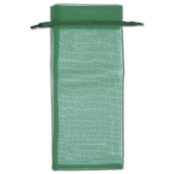 Hunter Green Organza Bags, 6 1/2 x 15""