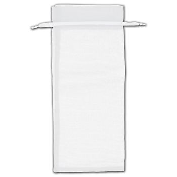 White Organza Bags, 6 1/2 x 15
