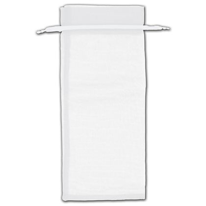 "White Organza Bags, 6 1/2 x 15"""