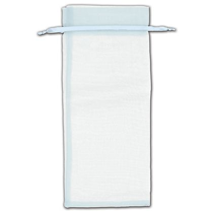 "Light Blue Organza Bags, 6 1/2 x 15"""