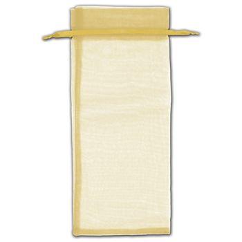 Gold Organza Bags, 6 1/2 x 15