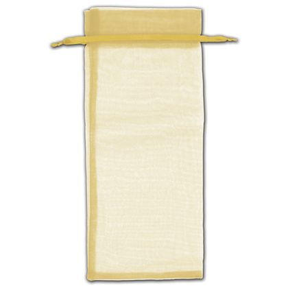 "Gold Organza Bags, 6 1/2 x 15"""