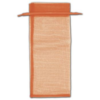 Orange Organza Bags, 6 1/2 x 15