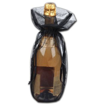Black Organza Bags, 6 1/2 x 15