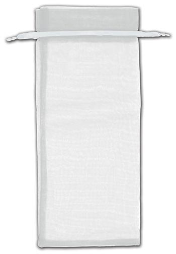 Silver Organza Bags, 6 1/2 x 15