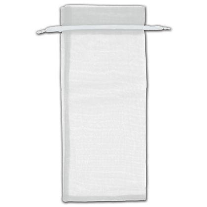 "Silver Organza Bags, 6 1/2 x 15"""