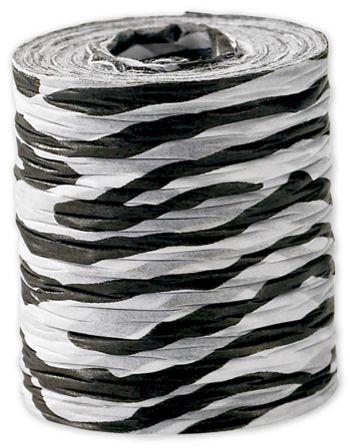 Crinkle Paper Zebra Ribbon, 1 1/2