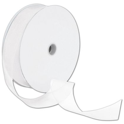 "Sheer Organdy White Ribbon, 1 1/2"" x 100 Yds"