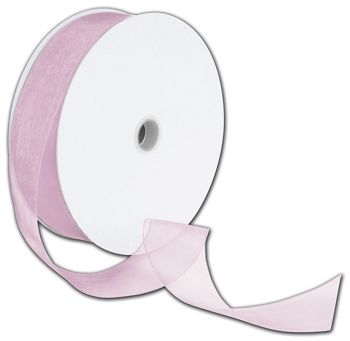 Sheer Organdy Chateau Rose Ribbon, 1 1/2