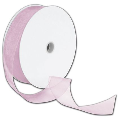 "Sheer Organdy Chateau Rose Ribbon, 1 1/2"" x 100 Yds"