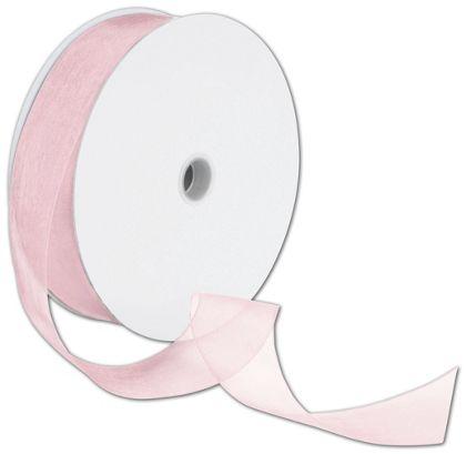 "Sheer Organdy Light Pink Ribbon, 1 1/2"" x 100 Yds"