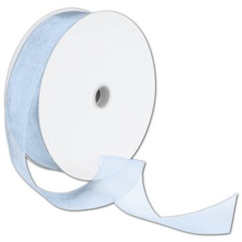 Sheer Organdy Blue Mist Ribbon, 1 1/2