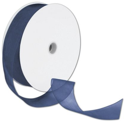 "Sheer Organdy Navy Ribbon, 1 1/2"" x 100 Yds"