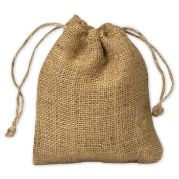 Burlap Cloth Bags, 5 x 6