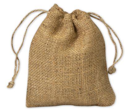 "Burlap Cloth Bags, 5 x 6"""