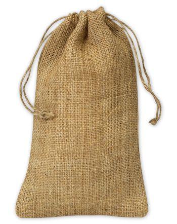 Burlap Cloth Bags, 5 3/4 x 9 3/4