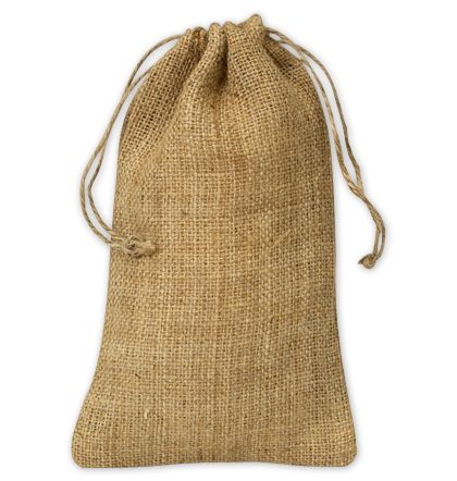 "Burlap Cloth Bags, 5 3/4 x 9 3/4"""