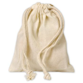 "Muslin Cloth Bags, 5 x 6"""