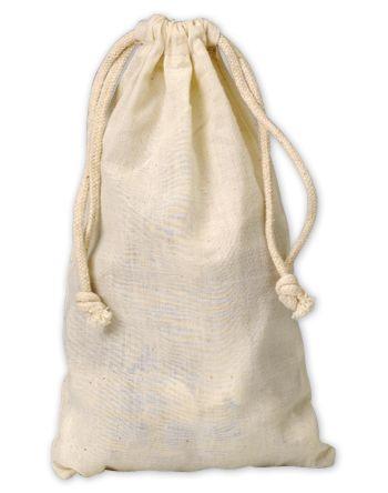 Muslin Cloth Bags, 5 3/4 x 9 3/4