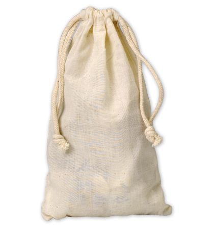 "Muslin Cloth Bags, 5 3/4 x 9 3/4"""