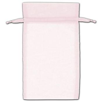 Pink Organza Bags, 5 x 7