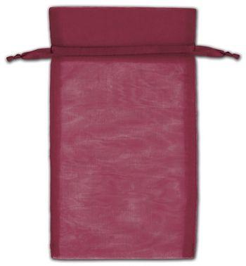 Burgundy Organza Bags, 5 x 7