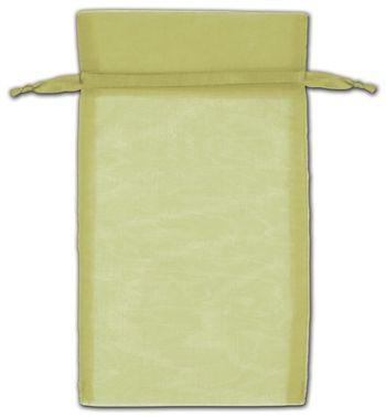 Moss Organza Bags, 5 x 7
