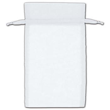 White Organza Bags, 5 x 7