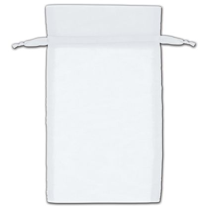 "White Organza Bags, 5 x 7"""