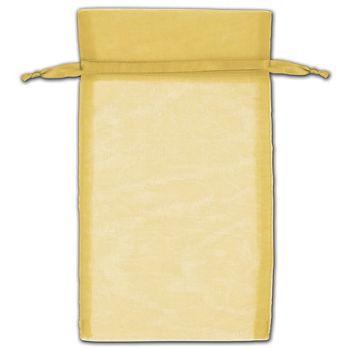 Gold Organza Bags, 5 x 7