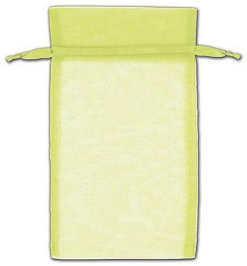 Mint Green Organza Bags, 5 x 7