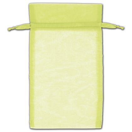 """Mint Green Organza Bags, 5 x 7"""""""