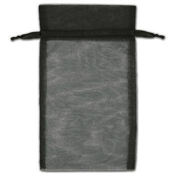 Black Organza Bags, 5 x 7