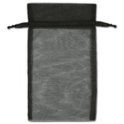 "Black Organza Bags, 5 x 7"""