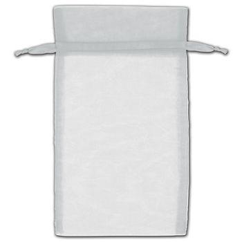 Silver Organza Bags, 5 x 7