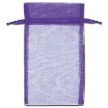 Purple Organza Bags, 5 x 7